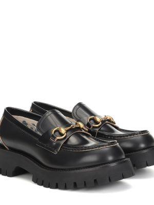 Loafers - czarne Gucci