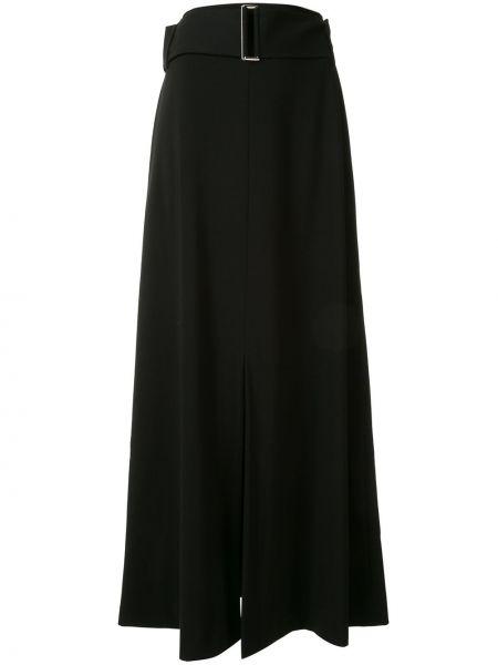 Шерстяная юбка макси - черная Taylor