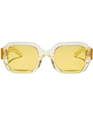 Żółte okulary srebrne Flatlist Eyewear