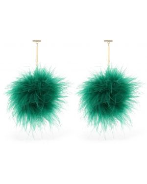 Zielone kolczyki sztyfty Tuleste