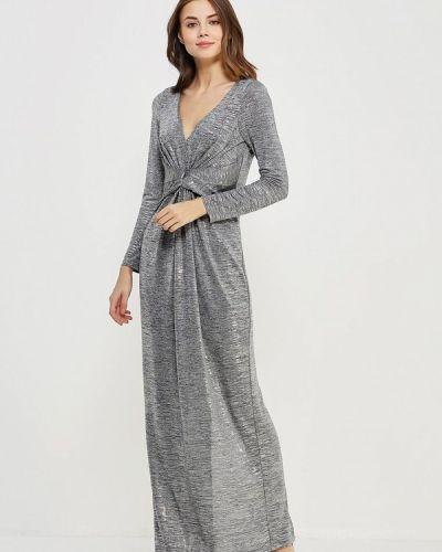 Платье осеннее серебряный Chic