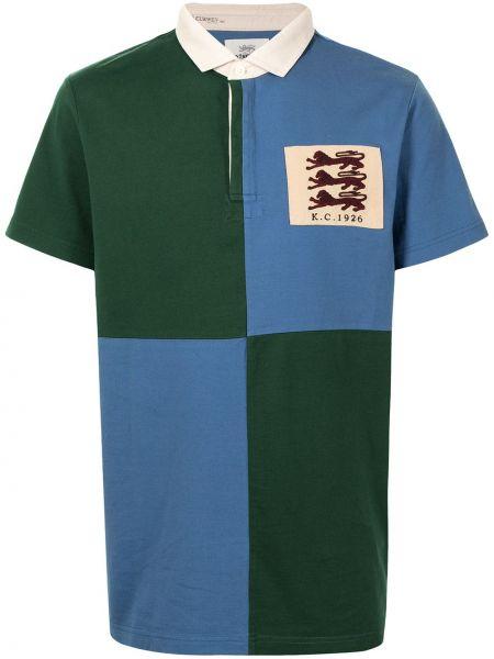 Niebieska koszula krótki rękaw bawełniana Kent & Curwen