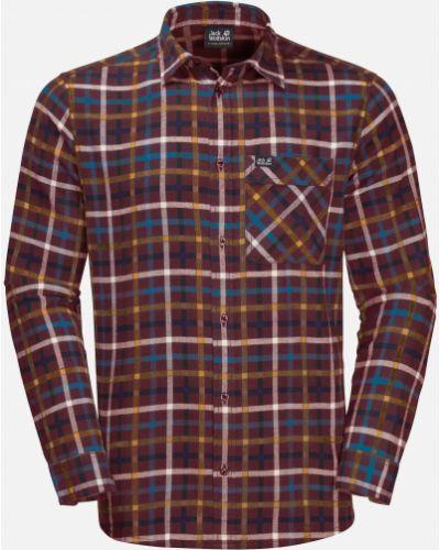 Рубашка с длинным рукавом - бордовая Jack Wolfskin