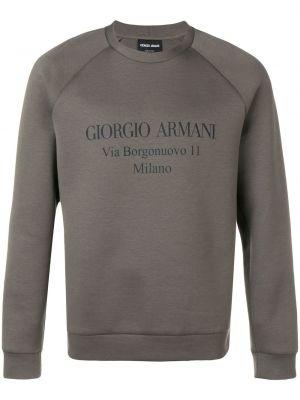 Bluza z długimi rękawami bawełniana z printem Giorgio Armani