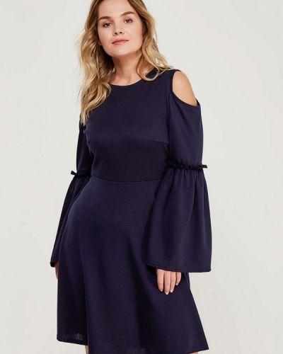 Платье вязаное синее Lost Ink Plus