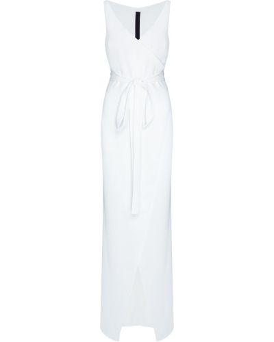 Белое платье макси с запахом из крепа Gareth Pugh