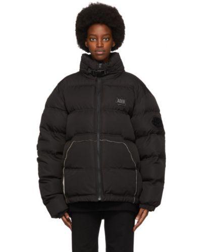 Asymetryczny puchaty biały pikowana kurtka z kieszeniami Ader Error
