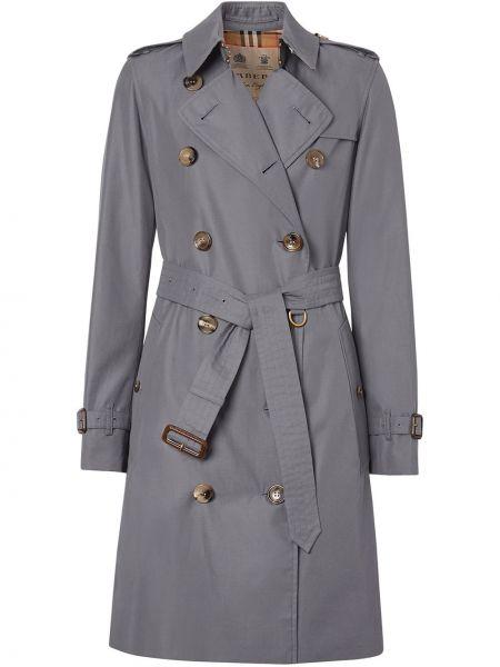 Długi płaszcz zapinane na guziki z kieszeniami Burberry