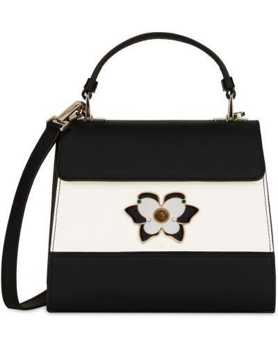 Кожаная сумка с бабочками маленькая Furla