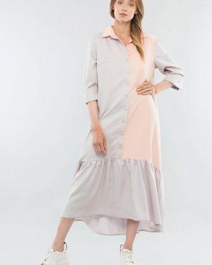 Серое платье Maxa