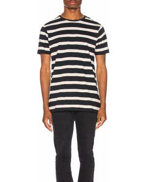 Czarny t-shirt bawełniany vintage Zanerobe