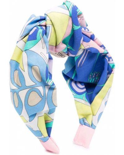 Niebieskie opaska do włosów Emilio Pucci Junior