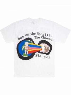 Biała koszulka bawełniana Kid Cudi