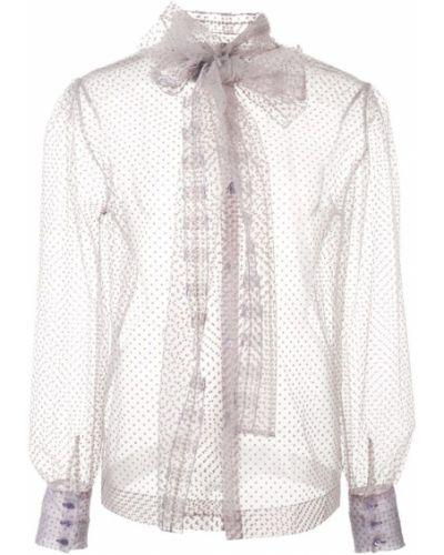 Блузка с длинным рукавом розовая с бантом Alexa Chung