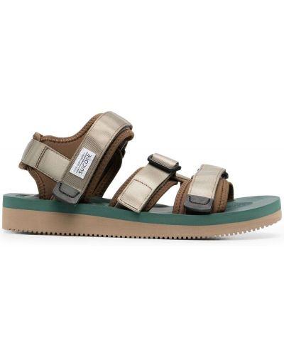 Beżowe sandały peep toe Suicoke