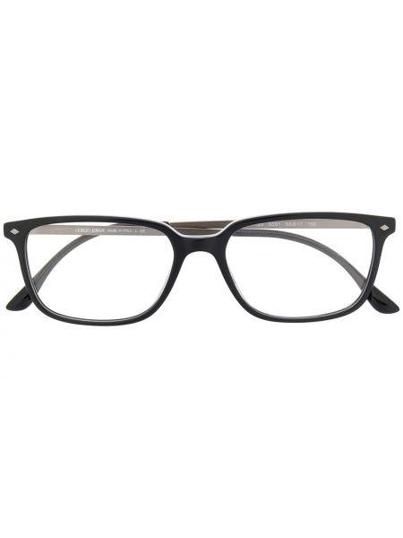 Czarny oprawka do okularów metal plac za pełne Giorgio Armani