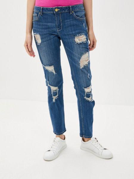 Зауженные джинсы - синие Sh