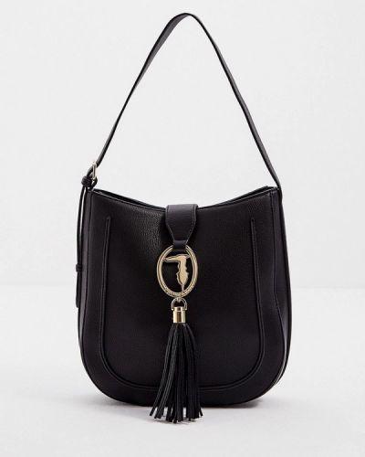 Черная зимняя сумка Trussardi
