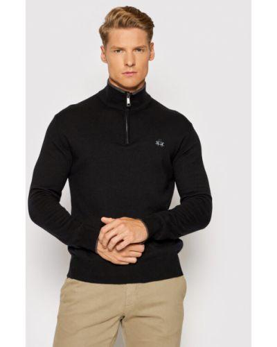 Czarny sweter La Martina