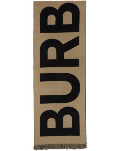 Черный шерстяной шарф прямоугольный Burberry