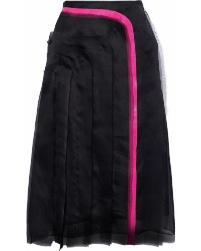 Шелковая юбка - черная Lanvin