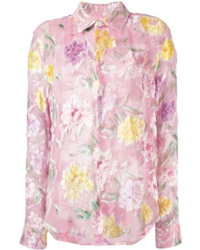 Фиолетовая классическая рубашка с вышивкой Garcons Infideles