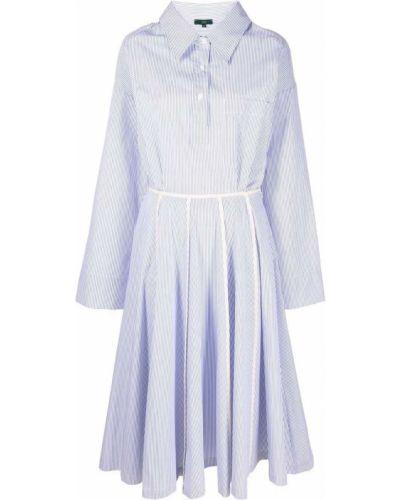 Прямое белое платье макси в полоску Jejia