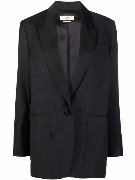 Серая куртка длинная Isabel Marant étoile
