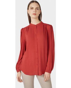 Блузка бордовый весенний Pompa
