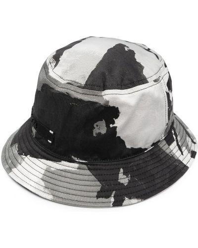 Czarny kapelusz bawełniany z printem Dolce And Gabbana