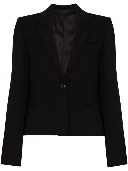 Однобортный черный пиджак для полных Toteme