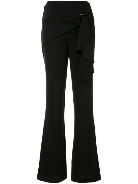 Черные расклешенные брюки с завязками с высокой посадкой Cinq À Sept