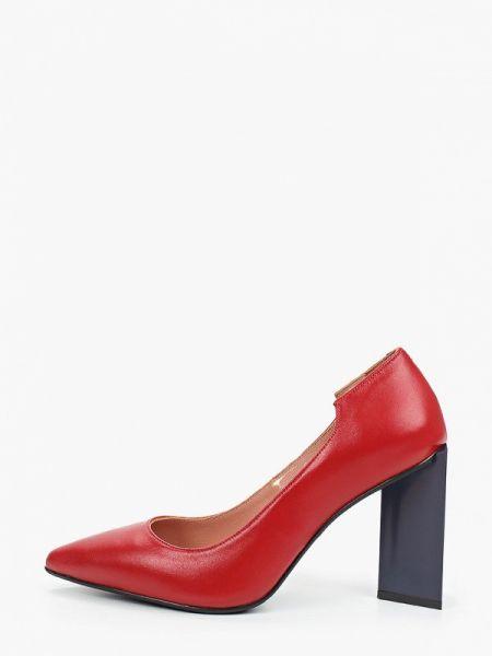 Кожаные туфли красные осенние Hestrend