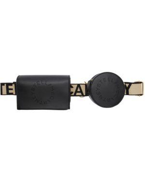 Кожаный черный ремень свободного кроя с поясом Stella Mccartney
