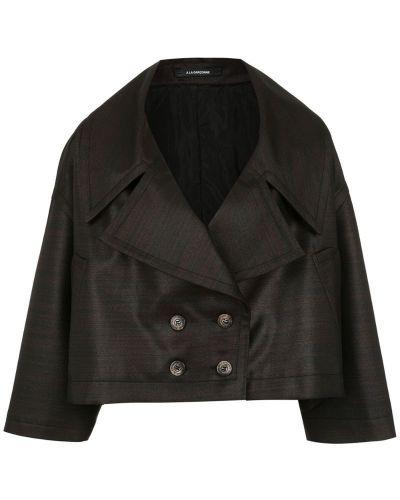 Черное пальто классическое à La Garçonne