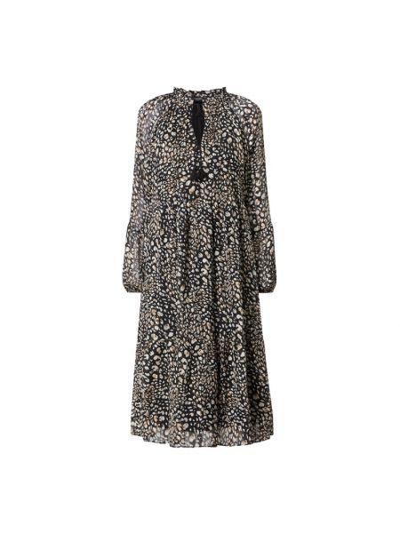 Sukienka rozkloszowana z wiązaniami - czarna Ilse Jacobsen