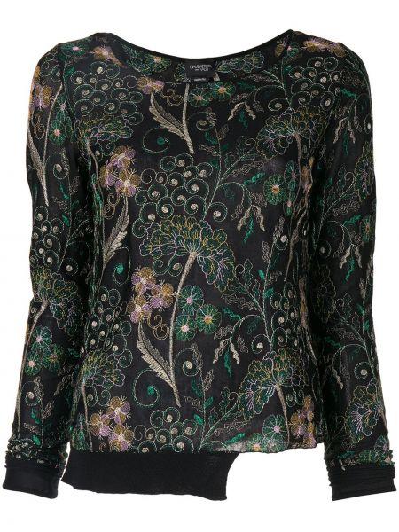Толстовка с вышивкой с цветочным принтом Giambattista Valli
