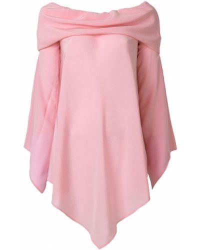 Блузка с открытыми плечами розовая шелковая Sies Marjan