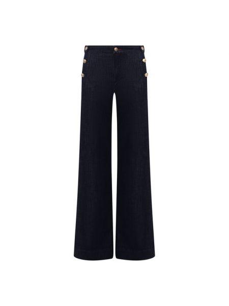 Расклешенные джинсы синие на пуговицах Jacob Cohen