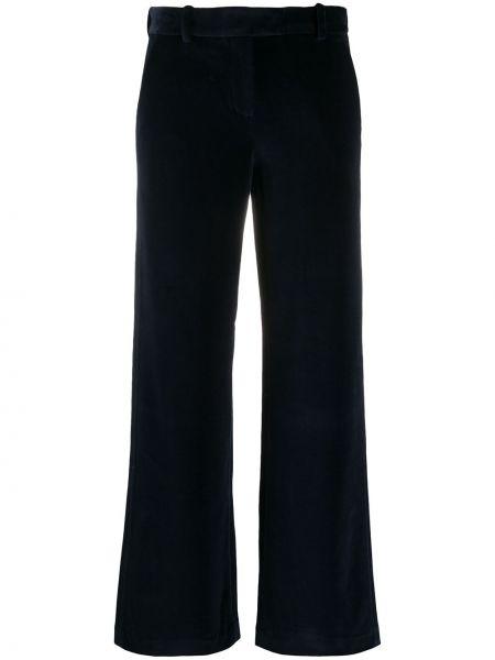 Бархатные синие брюки с карманами с потайной застежкой Circolo 1901