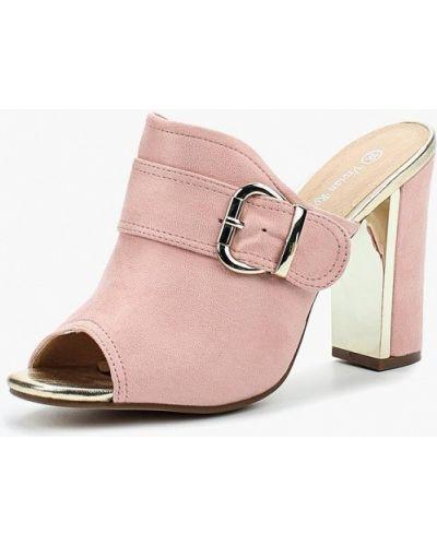 Розовые сабо замшевые Vivian Royal