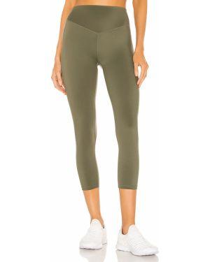 Zielone spodnie z nylonu peep toe Lovewave