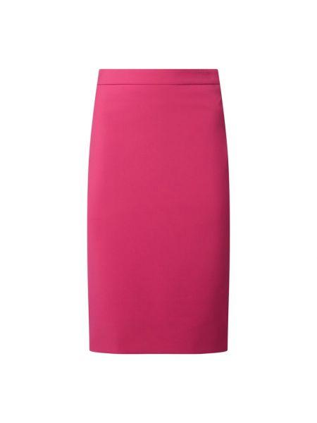 Różowa spódnica ołówkowa bawełniana Boss