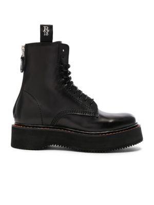 Ботильоны на каблуке - черные R13
