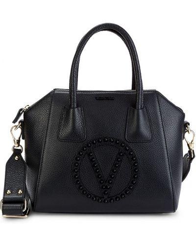 Черный кожаный ранец с карманами Valentino By Mario Valentino