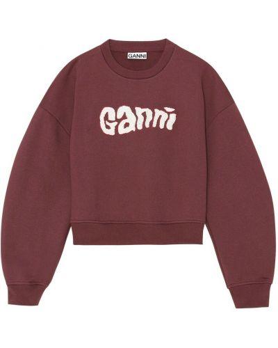 Fioletowa bluza dresowa Ganni