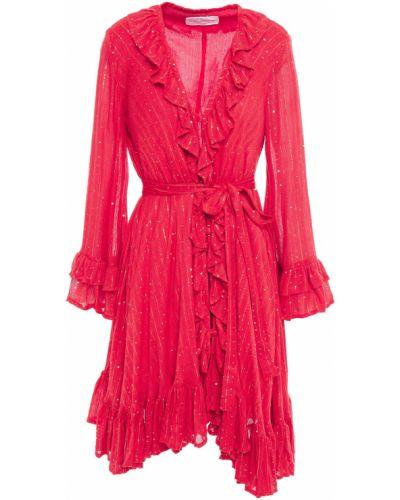Асимметричное платье мини с пайетками из вискозы Sundress