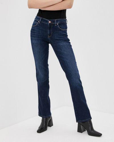 Расклешенные синие широкие джинсы Guess Jeans