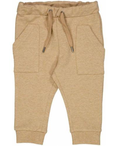 Beżowe spodnie do biegania Wheat