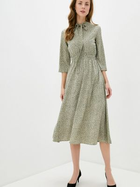 Платье прямое зеленый Vika Ra